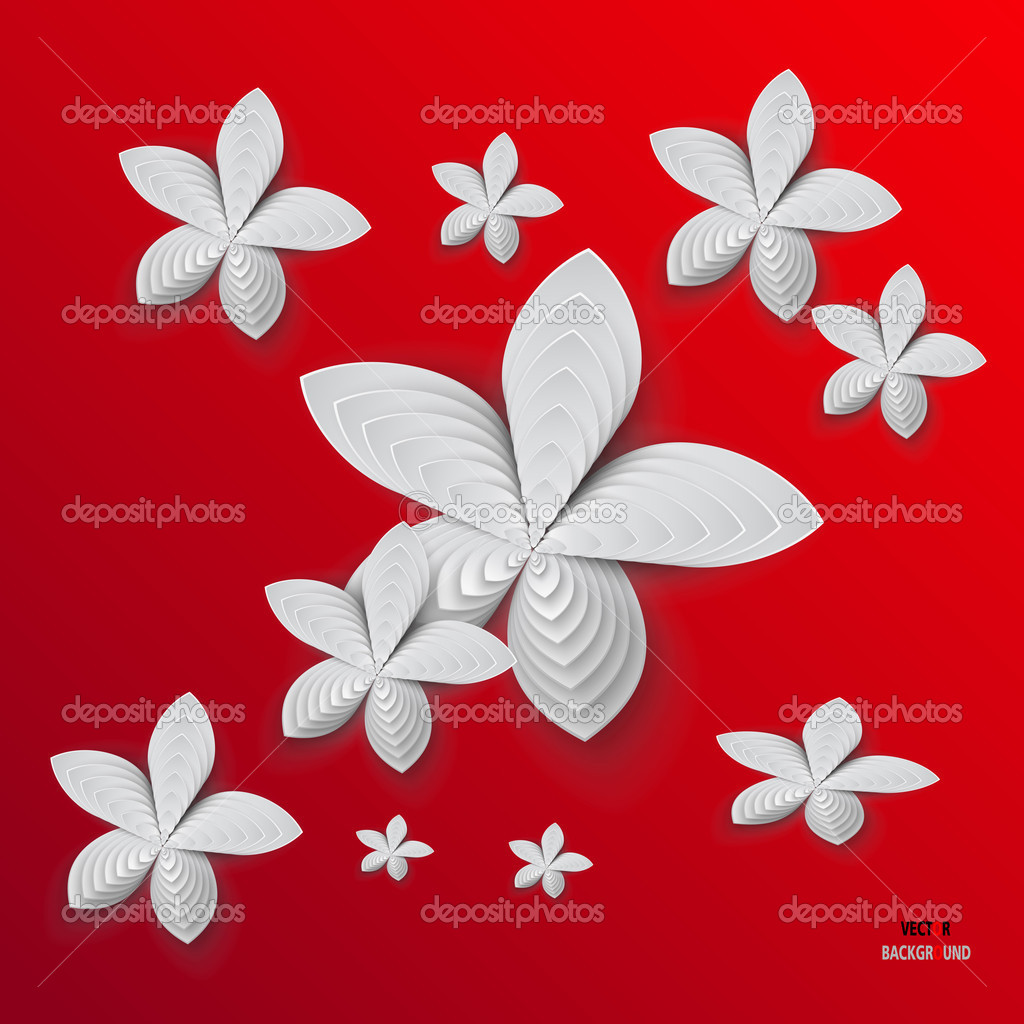abstract beautiful white flowers - photo #11