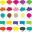 Speech bubble vector illustration — Stock Vector