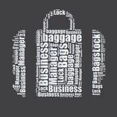 Bags Word cloud typography text word art vector illustration — Stock Vector