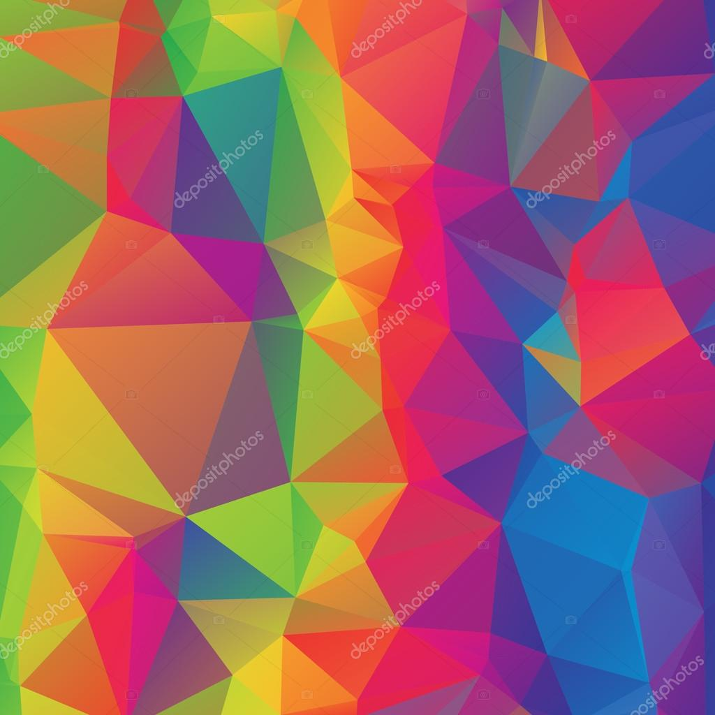 abstract polygonal colorful background - photo #41