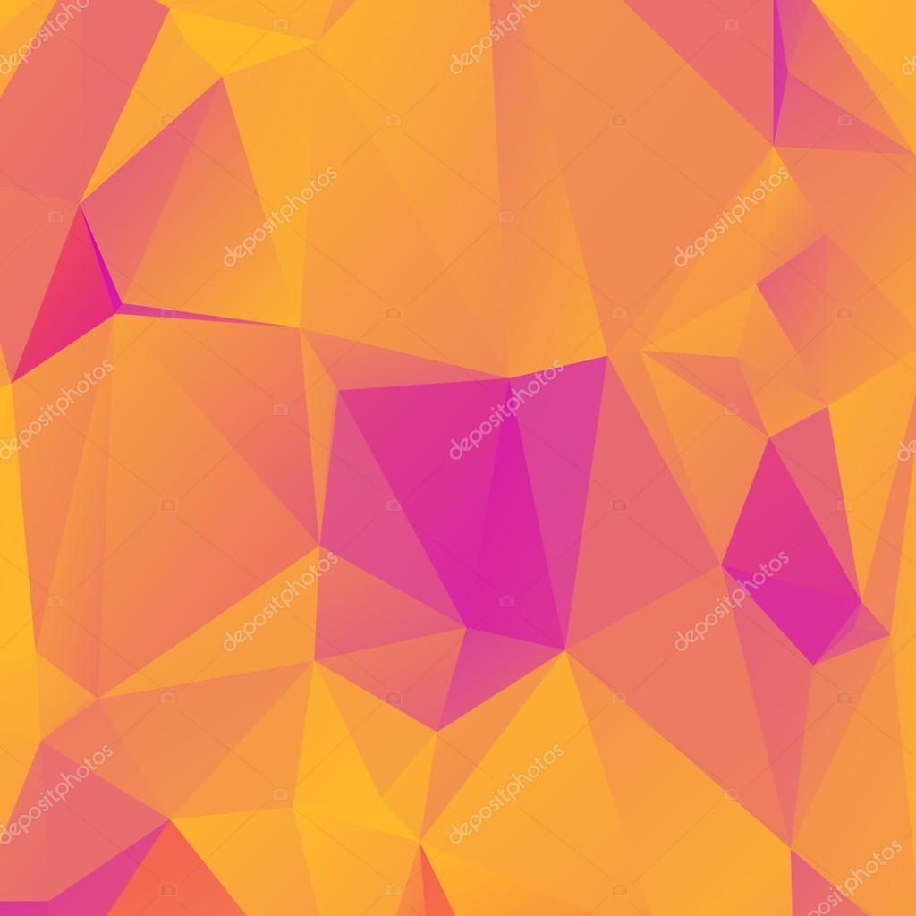 矢量插图多边形模式六角三角折纸几何形状未来派八角