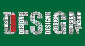 Design tipografia 3d texto palavra arte vetorial ilustração design palavra nuvem — Vetor de Stock