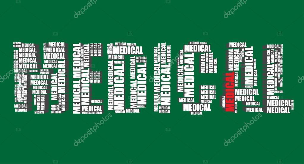 3d Medical Art Medical Typography 3d Text