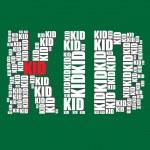 Kid typography 3d text word kid art — Stock Vector