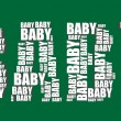 Baby typography 3d text word baby art illustration word cloud — Stok Vektör