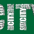 City typography 3d text word city art illustration word cloud — Stock Vector