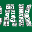 Cake typography 3d text word cake art illustration word cloud — Stockvectorbeeld