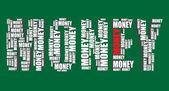 Money typography 3d text word money art vector illustration word cloud — Stock Vector