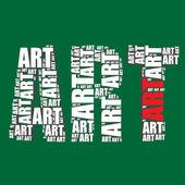 Art typografi 3d text konst ord konst — Stockvektor