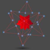 Geometric background 3d geometric abstract art geometric lines vector illustration — Stock Vector