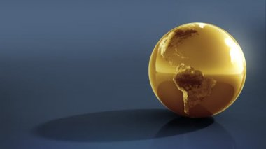 Earth. Gold on Silver. — Stock Video