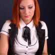 Stock Photo: Redhead businesswoman