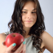 Stock Photo: Woman with an apple