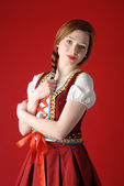 Polish folk woman — Stock Photo