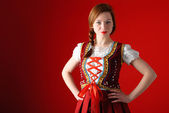 Polish folk woman — Stock Photo