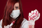 Bloody nurse — Foto Stock