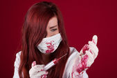 Bloody nurse — Stock Photo
