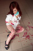 Bloody nurse — Stock fotografie