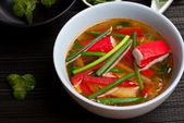Sopa de surimi — Foto de Stock