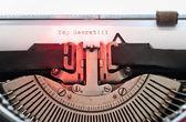 Vintage typewriter — Zdjęcie stockowe