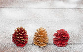 Christmas cones — Stock Photo