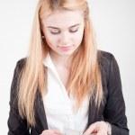 Businesswoman with money — Stock Photo #51252897