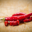 Red pepperoncino, spice for cooking — Stock Photo