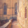 Stock Photo: Old Town Pienza, Tuscany between Sienand Rome