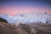 Castelluccio is a village in Umbria, in the Apennine Mountains o — Stock Photo