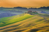 Sunny fields in Tuscany, Italy — Stock Photo