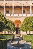 Gardens at the Palazzo Piccolomini, Pienza — Stock Photo