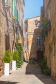 Vicolo toscano d'epoca in italia — Foto Stock