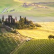 Tuscan house on the misty hills — Stock Photo #49336419