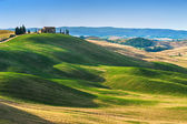 Tuscan summer on the fields in the beautiful view — Foto de Stock