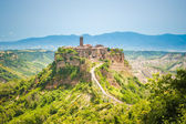 The old town of Bagnoregio on a hill in Lazio, Italy — Stock Photo
