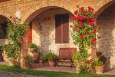 Italský agroturistika v toskánsku — Stock fotografie