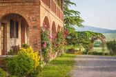 Agroturystyka włoski in toskania — Zdjęcie stockowe