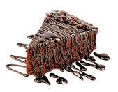 Chokladkaka med chocalate creame — Stockfoto