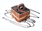 Chocolate cake with chocolate creame — ストック写真