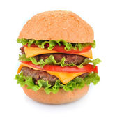 Hamburger on white — Stock Photo