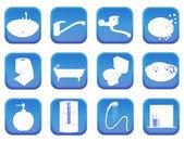 Bathroom icons — Stock Vector