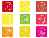 A set of fruit icons 2 — Stock Vector