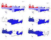 Crete provinces maps — Stock Vector