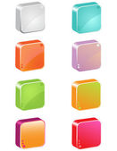 3d icon buttons — Stock Vector