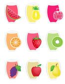 Fruit icons1 — Stock Vector