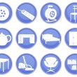 Stock vektor: House icons set 2