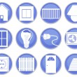 Stock Vector: House icons set