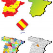 Spain maps — Stock Vector