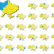 Ukraine provinces maps — Image vectorielle