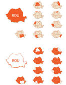 Romania maps 2 — Stock Vector